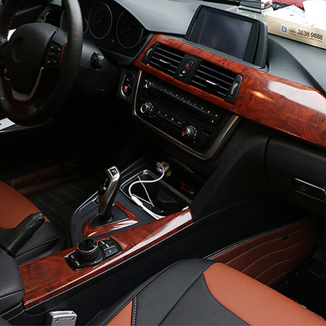 Car interior color change film texture wood texture of the whole ...