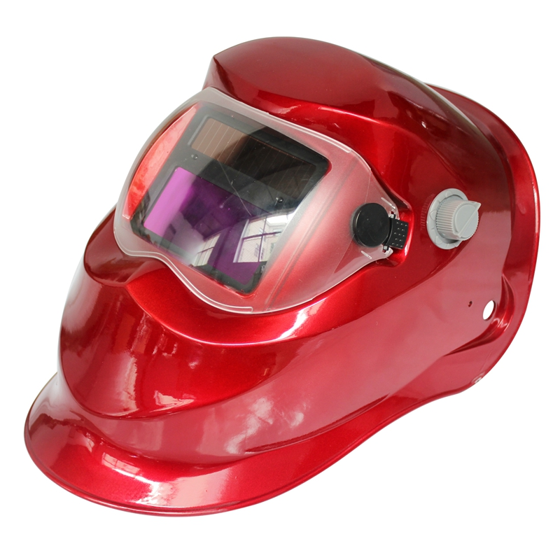 Hot sale 2018 New Pro Solar Welder Mask Auto-Darkening Welding Helmet irregular Red цена