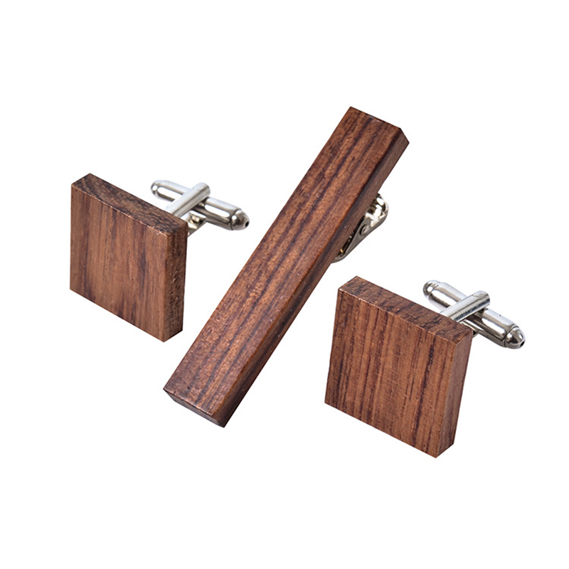 Luxury Shirt Wood Cufflinks Square Rosewood Cuff Links For Mens Jewelry Best Business We ...