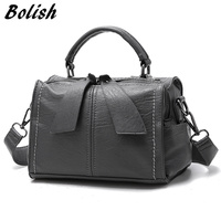 Bolish Brand Soft PU Leather Women Handbag Female Shoulder Bag Larger Size Tote Bag Women Messenger