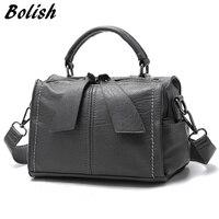 Bolish Brand Soft PU Leather Women Handbag Female Shoulder Bag Larger Size Tote Bag Women Messenger