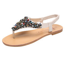 SAGACE Shoes Woman Sneakers Elastic Band Rhinestone Sequins Flip Flop Women Waterproof Platform Summer Sandals Women(China)