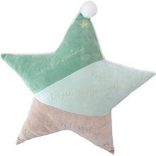 multisize ultra soft star shaped throw pillow with golden threads embroidery for Nordic home decoration ideal sofa floor cushion