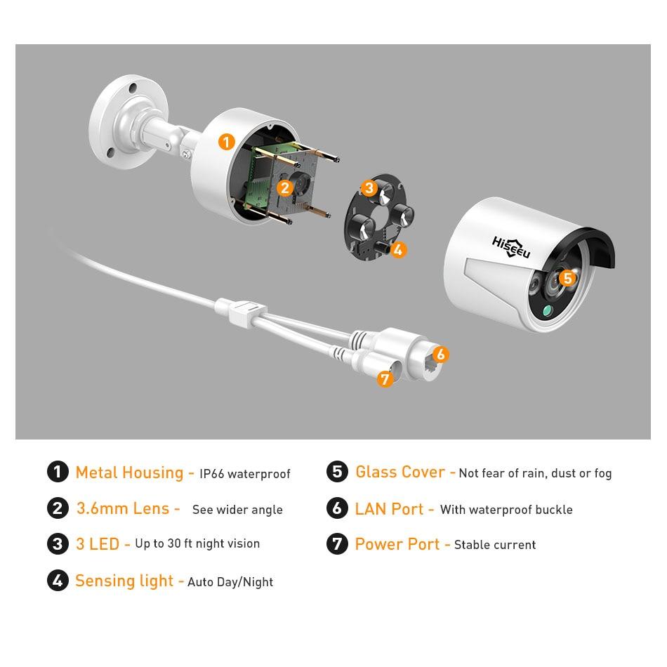 Hiseeu 960P NVR 4PCS 960P Bežični sigurnosni CCTV sustav Vanjska IP - Sigurnost i zaštita - Foto 3