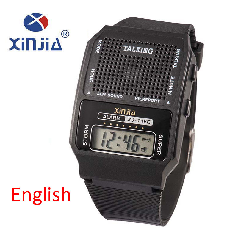 watches in English - Simple  Men and Women Talking Watch Speak English Blind Electronic Digital Sports WristWatches For  The Elder People