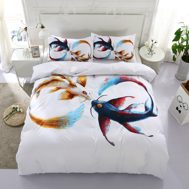 Duvet Cover Fish Bedding Sets Bedspread Bed Linen For Children Clothes Twin