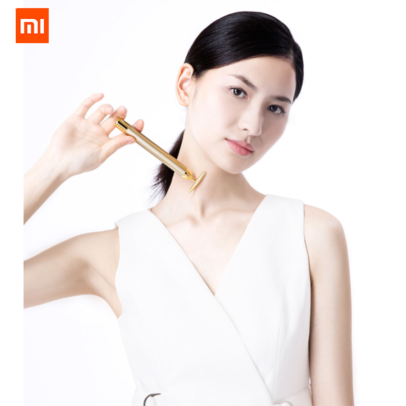 Xiaomi InFace Gold Beauty Bar Gold plated Massage head Speed Up Metabolism Improve Edema Face lifting