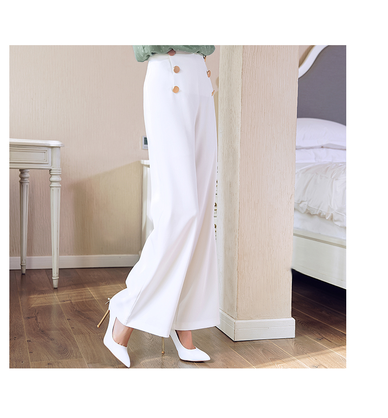HTB1kMVAMIfpK1RjSZFOq6y6nFXae - British OL style women's high waist wide leg pants casual loose female full length trousers with double gold buckles PA001