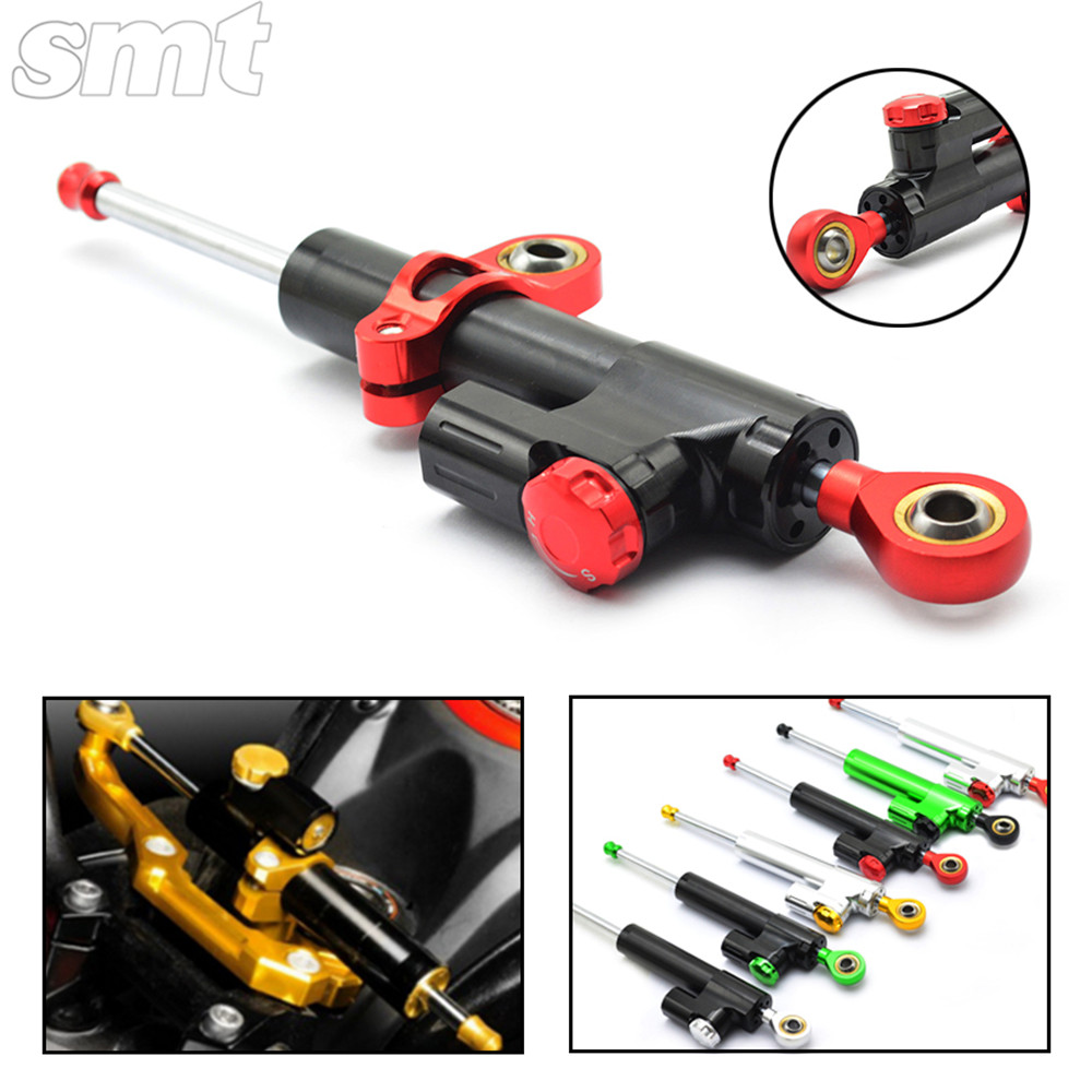 Universal Motorcycle CNC Damper Steering Stabilizer Damper Linear Reversed Safety Control for yamaha r1 mt 09 ducati monster 2015 brand new universal motorcycle cnc aluminum steering damper blue color stabilizer linear reversed safety control 5 colors