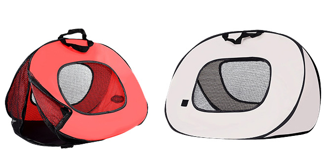 Pet Cat Carrier Bag Cage Portable Collapsible Multi-functional Tent Shape Design Patrern Folding Easily for Dog Cat 3