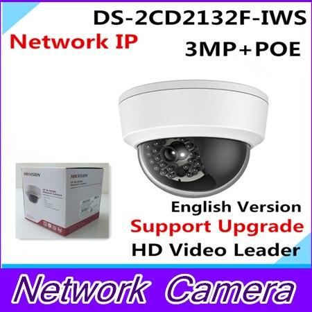 все цены на  Wholesale English Version IP Camera 3Mp Firmware is V5.3.0 Multi Language Mini Dome Camera POE IP CCTV camera DS-2CD2132F-IWS  онлайн