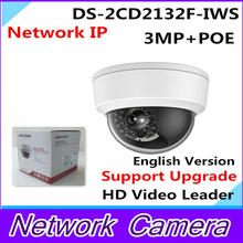 Wholesale English Version IP Camera 3Mp Firmware is V5.3.0 Multi Language Mini Dome Camera POE IP CCTV camera DS-2CD2132F-IWS
