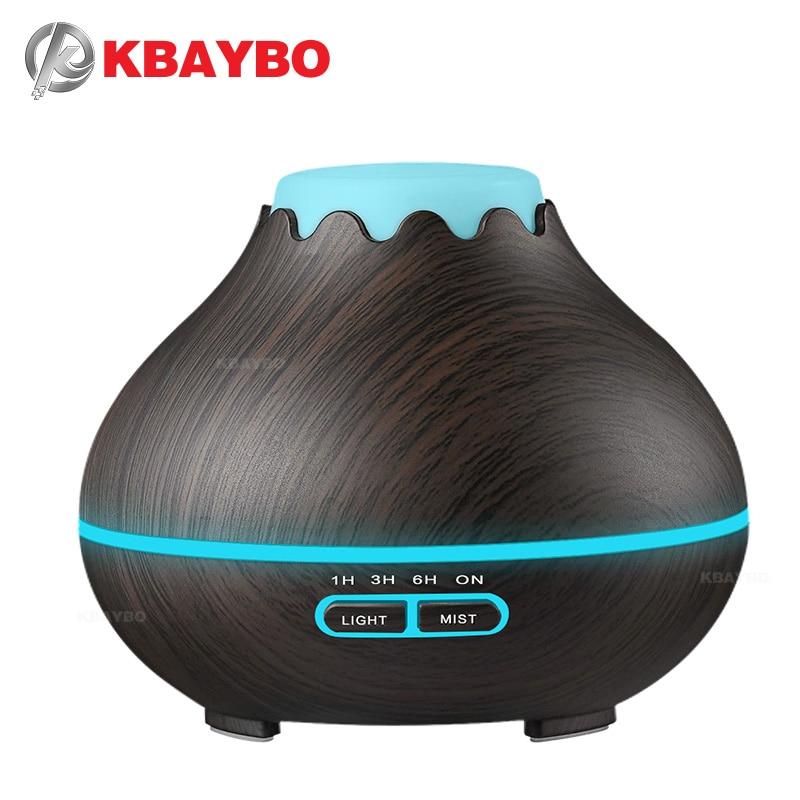 400 ml Ultra-sônica Difusor Do Óleo Difusor de Aroma Névoa Fria HumidifierEssential Escuro Grão De Madeira para Escritório Quarto Estudo Sala de Yoga Do Bebê Spa
