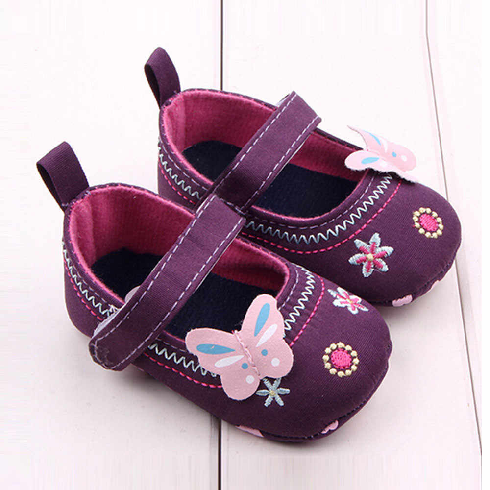 Cute fashion butterfly embroidered comfortable toddler shoes Fashion Baby Shoes Butterfly Soft Sole Toddler Shoes F5