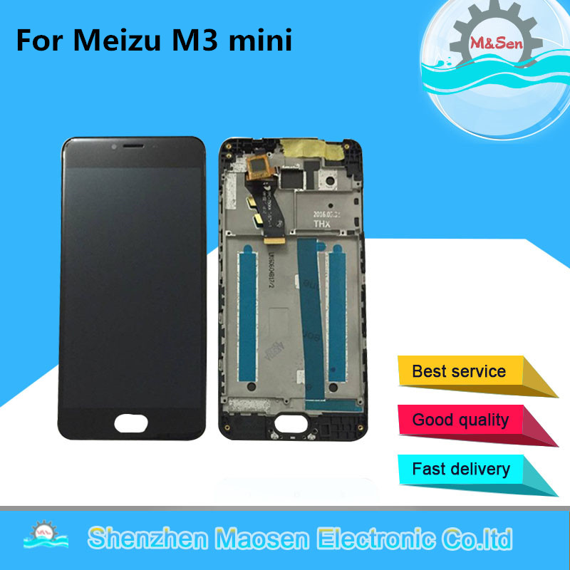 M&Sen For 5.0 Meizu M3 mini M688Q M688C M688M M688U Lcd screen Display+Touch panel digitizer with frame free shipping