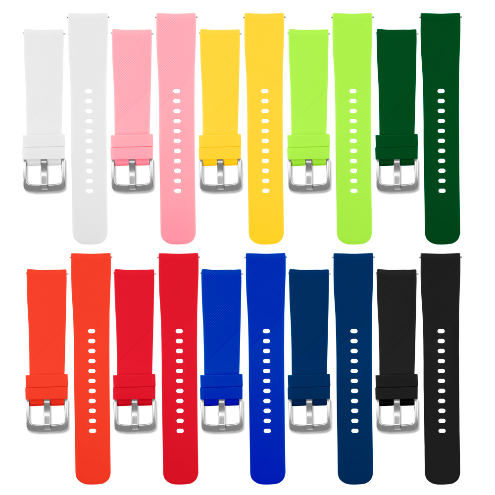 Sport Watch Band For Xiaomi Huami Amazfit Bip/Huawei Watch 2/Samsung Gear S2 Strap Silicone Belt Smart Wristband Bracelet