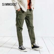 SIMWOOD Casual 2019 Spring Hip Hop Plus Size Ankle-Length Pants For Men Trousers