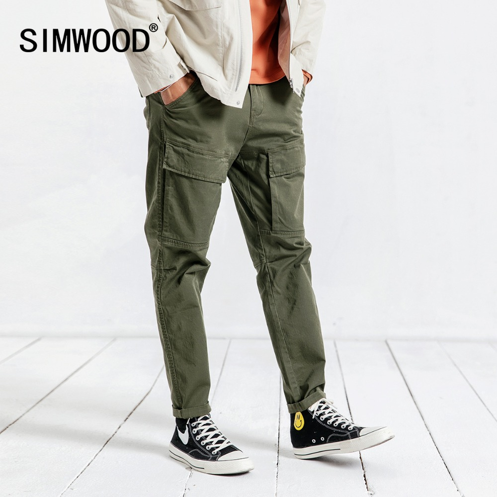 SIMWOOD Brand Casual Pants Men 2020 Spring Hip Hop Plus Size Ankle-Length Pants For Men Trousers Men Free Shipping 190057