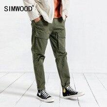 SIMWOOD marka Casual spodnie męskie 2020 wiosna Hip Hop Plus rozmiar spodnie do kostek męskie spodnie męskie darmowa wysyłka 190057