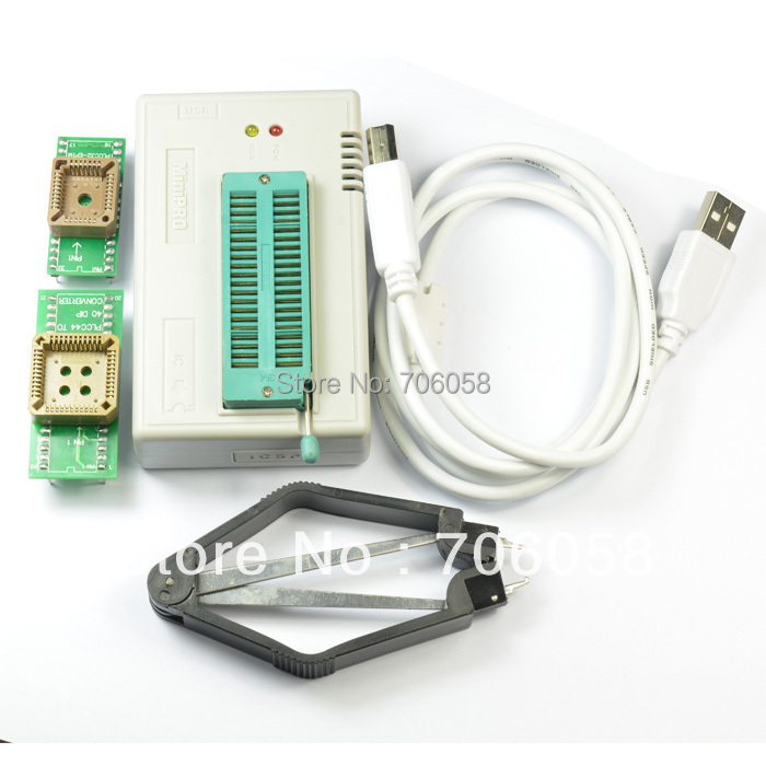 USB MiniPro TL866CS Universal BIOS Programmer EEPROM FLASH 8051 AVR GAL PIC SPI usb tl866cs programmer eprom spi flash avr gal pic 9pcs adapters test clip 25 spi flash support in circuit programming adapter