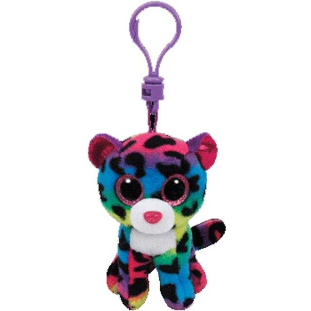 Ty Beanie Boos Big Eyes Plush Rainbow Leopard Keychain Toy ...