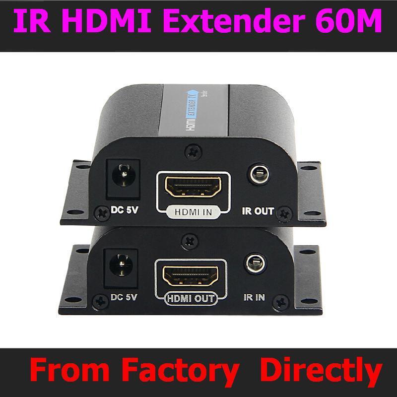 Video/audio Extender Über Cat6/cat7 5 Paare/los Neue Lkv372a Hdmi 1080 P Extender Mit Ir Konverter Bis Zu 60 M Freies Verschiffen