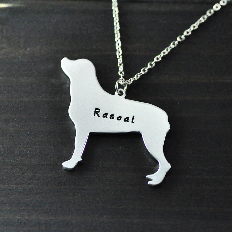 Rottweiler necklace alloy hand cut dog pendant creature necklace a good gift beautiful charm