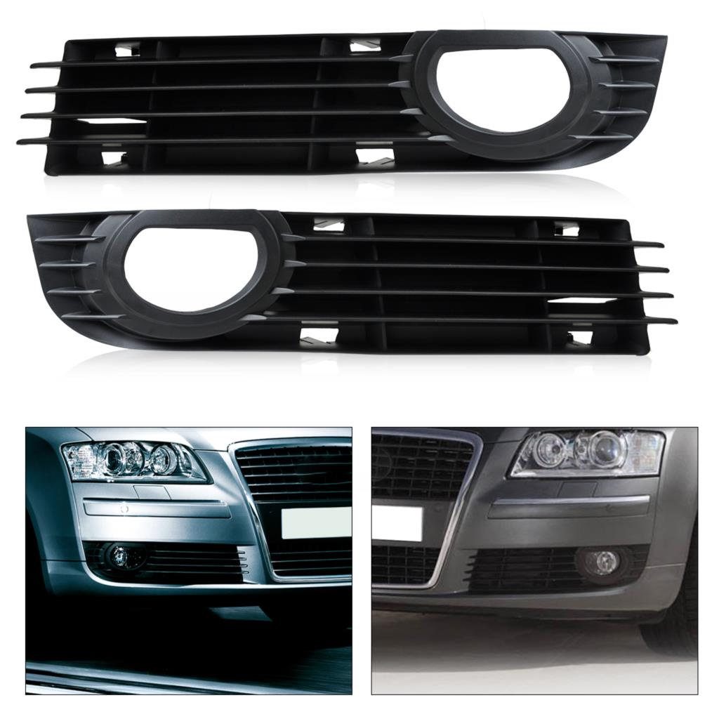 CITALL 4E0807681AD01C 4E0807682AD01C Grille Insert Avant Pare-chocs Grille De Protection Maille Brouillard Lumière pour Audi A8 S8 2006 2007 2008