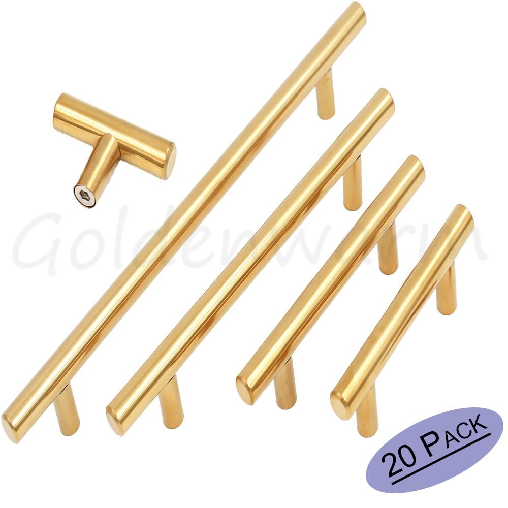 Gebürstetem Messing Gold Schrank Griffe Goldenwarm Möbel Hardware T ...