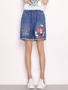 LEIJIJEANS 2019 Summer jeans Plus Size Loose women shorts