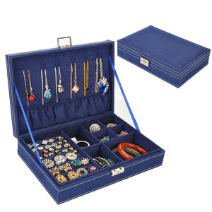 Image 4 - Guanya Hot Sell High grade Velvet Jewelry Box, Studs Earrings Ring Storage Case,New Style Women Wedding Graduation Birthday Gift