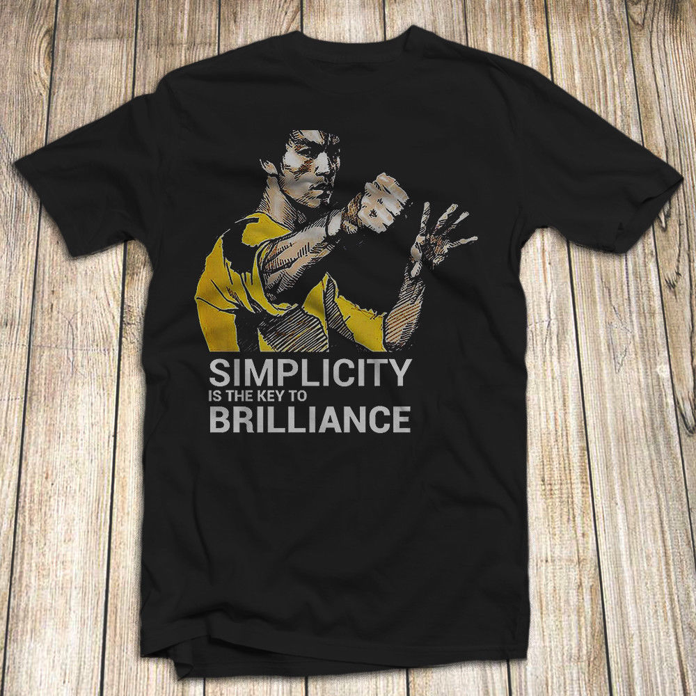 Bruce Lee Men'S T Shirt 100% Cotton Kong Fu Master Fighter New Men T Shirt Fashion Plus Size Free Shipping Tshirts