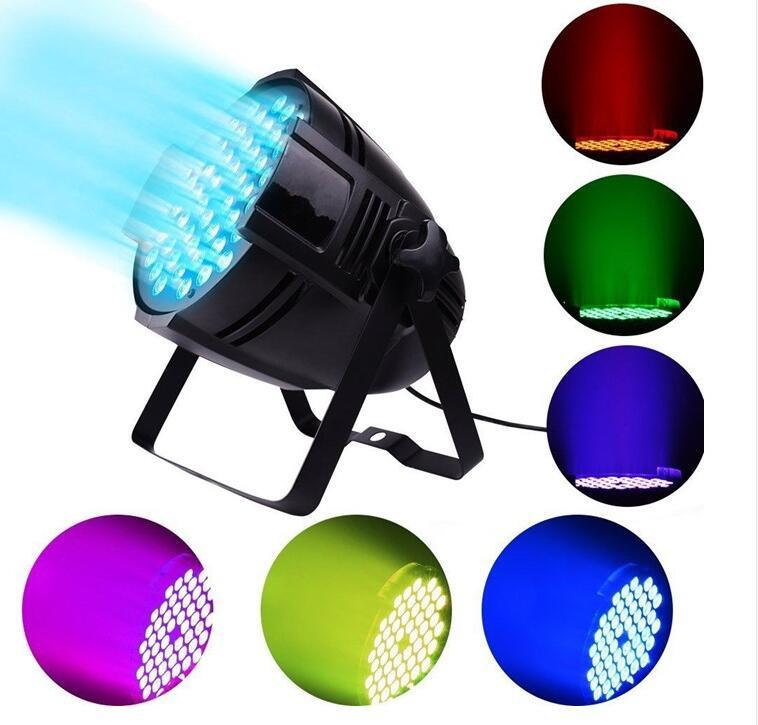 Aluminum Shell 54x9W RGB 3in1 LED Par Light DMX Stage Light Business Light Professional Flat Palin KTV Disco DJ LightAluminum Shell 54x9W RGB 3in1 LED Par Light DMX Stage Light Business Light Professional Flat Palin KTV Disco DJ Light
