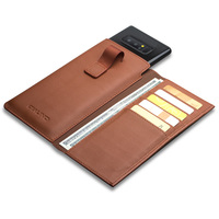 QIALINO Business Style Case for Samsung Galaxy Note 8 Handmade Genuine Leather Wallet Pouch Card Slot Cover for Samsung Note 8