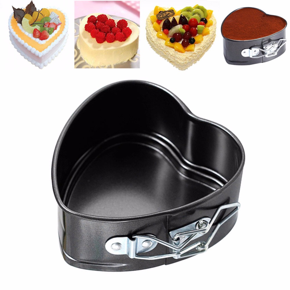 Kitchen Cookware Cooking Love Heart Shape Non Stick Baking Tray Pan Bake Oven Cake Tins Tools Hot Sale