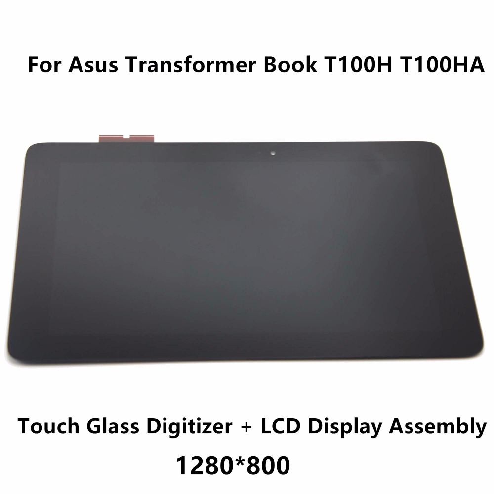 цена на New 10.1 inch Tablet Touch Glass Digitizer Panel+LCD Display Screen Assembly Replacement for Asus Transformer Book T100H T100HA