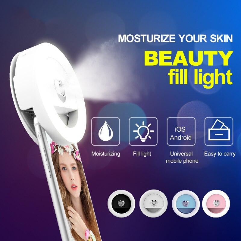 RK18 Selfie Ring Fill Light Moisturizing Lamp LED Lights For Phone Celular Photography Video Studio Light for 5S 7 Iphone Xiaomi