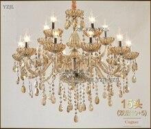 10/15 arms chandelier light crystal lighting double dining room big chandelier crystal dining hall chandelier E14 LED light