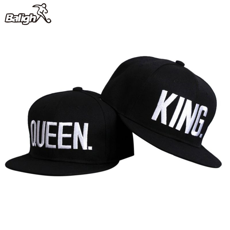 2018 New Men Women Running Caps King Queen Embroidery Snap Back Hat Couple Cap Gifts Hip-hop Caps
