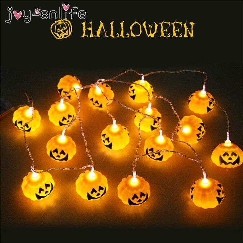 joy enlife 16pcsset halloween pumpkin skull led string light halloween indoor outdoor lights crazy halloween party decor - Halloween Pumpkin Lights