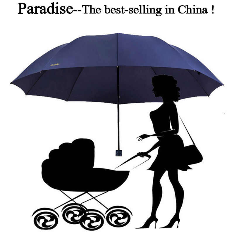 853e06b37825a 130cm Brand Big Umbrella Rain Women Folding Windproof Sun Large Anti uv Men  Corporation Umbrellas Female