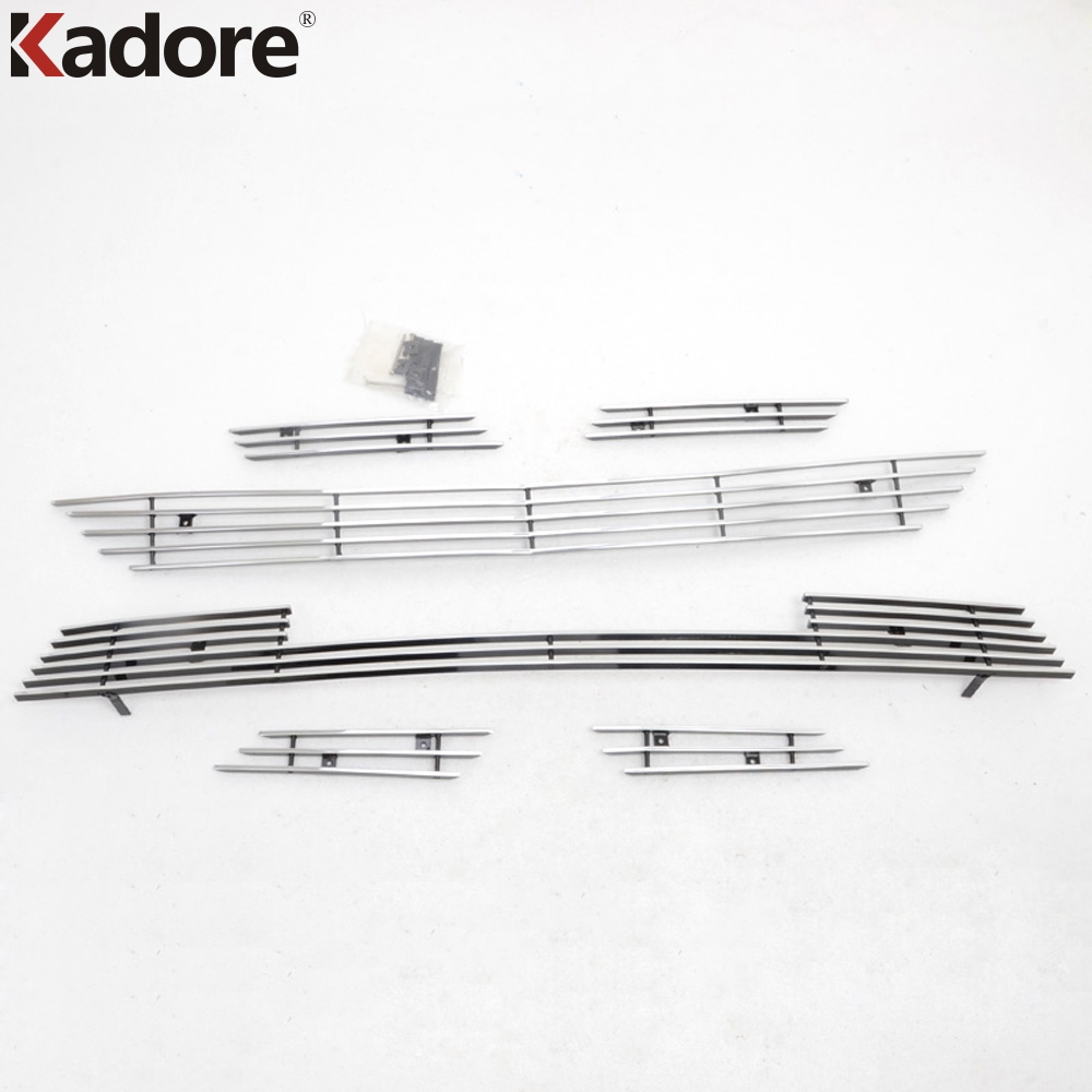 For Toyota RAV4 RAV 4 2013-2015 Stainless Steel Front Radiator Center Grill Grille Cover Racing Grills Trim Around Car Styling car styling 1pcs stainless steel chrome front grille front and rear decorative fine barbecue season 2012 2013 for toyota camry