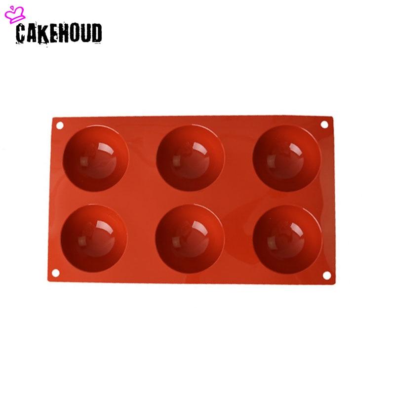 CAKEHOUD Yüksək keyfiyyətli silikon yarı dairəvi 6 çuxurlu DIY - Mətbəx, yemək otağı və barı - Fotoqrafiya 4