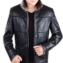 Большие размеры 8XL мужская кожаная куртка мужская пальто теплая зимняя брендовая одежда jaqueta de couro masculino(China (Mainland))