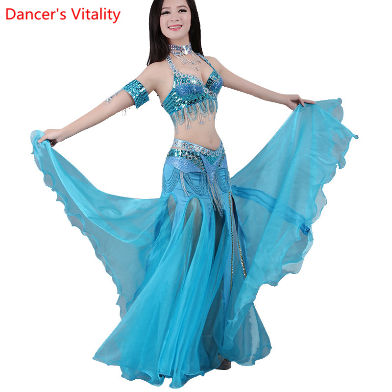 Image 5 - For Women Snow Yarn Skirt For Dance Tribal Ats Costumes For Belly Dancing Competition Long Skirts For Women Free ShippingBelly Dancing   -