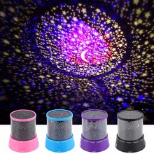 LED Night Light Projector Starry Sky Star Moon Master Sleep Colorful Led USB Projection Children Baby Lamp Light With USB Cable