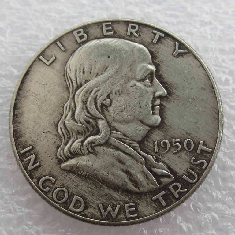 1950 P D Franklin Silver Half Dollar 90% silver or silver plated copy coins High Quality