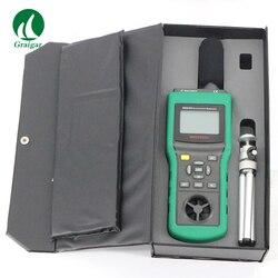 Mastech MS6300 Tester środowiskowy Lux miernik temperatury i miernik wilgotności wiatr prędkości przepływu powietrza miernik poziomu dźwięku