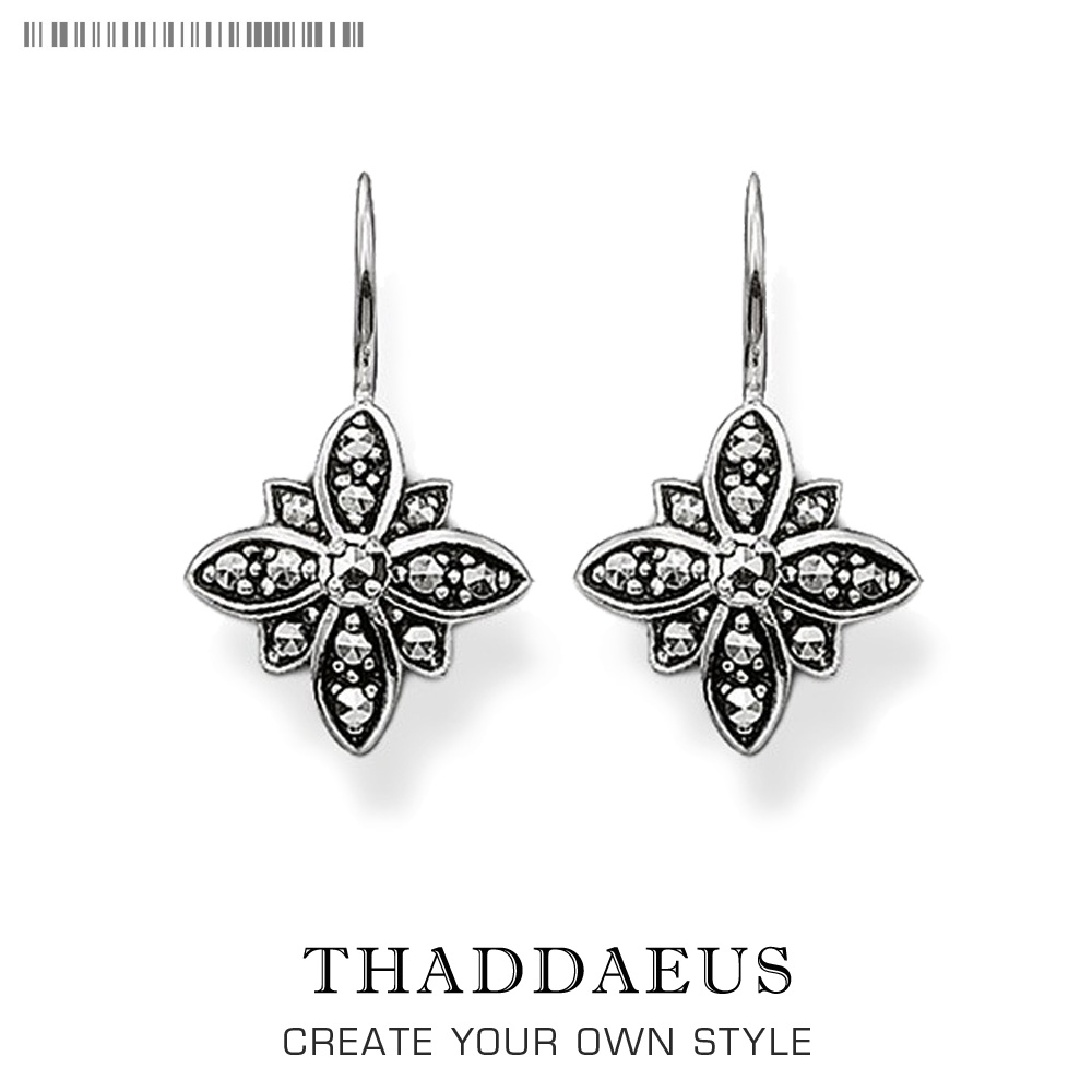 Drop Earrings Marcasite Star Flower Trendy Gift For Women Ts High Quality Earring Thomas Style Silver Zirconia Fashion Jewelry