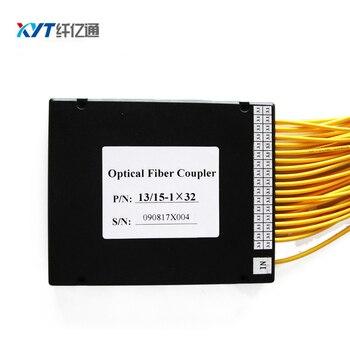 Free Shipping 100x80x10mm PLC Optical Splitter 1x32 ABS Box No Connector Fiber Optic PLC Splitter